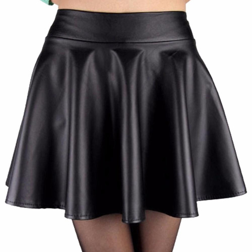 mini falda circular vinipiel skater pastel goth rock glam