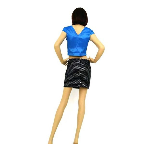 mini falda con chaquira coqueta linda sexy para lucir pierna