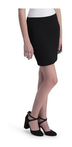 mini falda con olanes unicolor dama importada