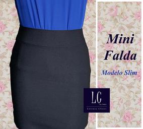 9ce92aec4 Mini Falda Elegante Y Sexy Confección Nacional (moda Mujer)