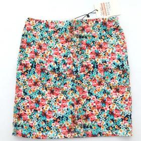 Mini Falda Marca Bershka Mujer Importado Floreado