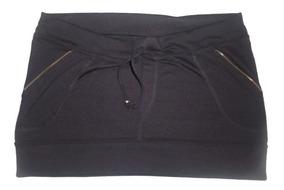 65cbb1d0c Mini Falda Pollerita Para Usar Con Calza O Jean Color Negro