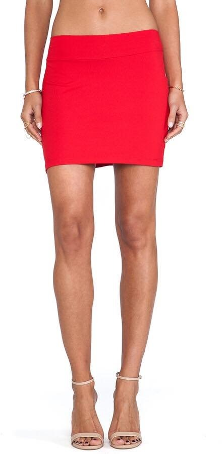c502920e2 Mini Falda Roja - Falda Corta Color Rojo