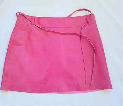 mini falda rosa viejo cuero imitación serp.express talla7/8