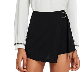 a0323b28d Mini Falda Short Sexy Skirt With Zip Negra Corta/ Envio