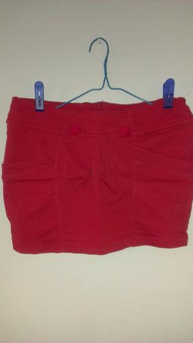 mini falda tela strech hermosa, talla unica