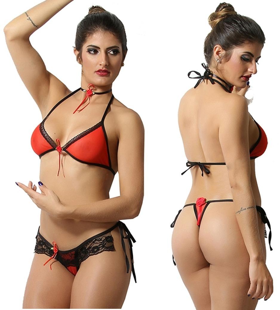 aa002d739 Mini Fantasia Espanhola Lingerie Sexys Moda Intima Atacado - R  14 ...