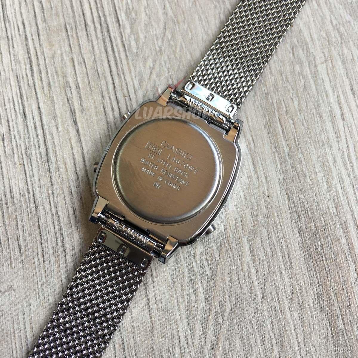 b2ad7b8d7dd Relógio Casio Digital Mini Feminino La670wem Prata Original - R  172 ...