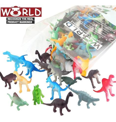 mini figuras dinosaurios valefortoy  72 piezas