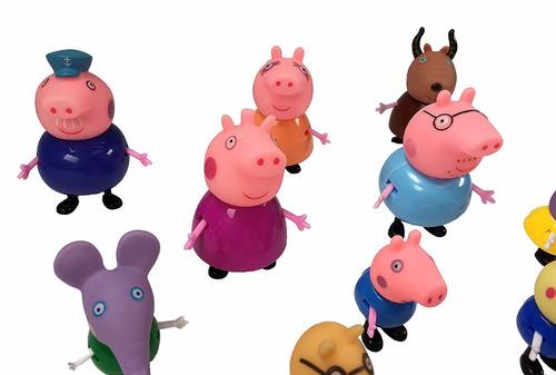 mini figuras personagens peppa pig 17 peças