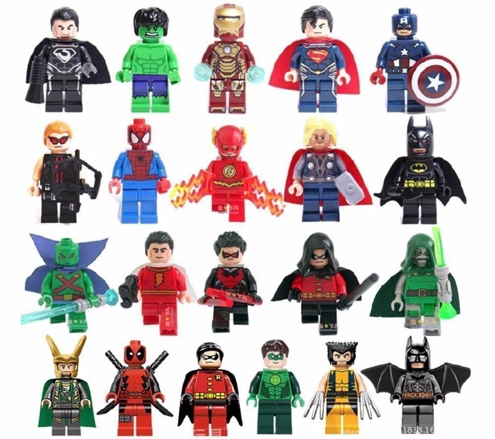 Mini Figuras Super Heris Lego Style