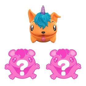 Mini Figuras Surpresas - Pooparoos - Laranja - Pack Com 3 Un
