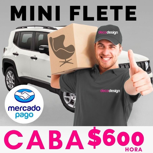 mini flete envio entregas a caba $600 la hora.