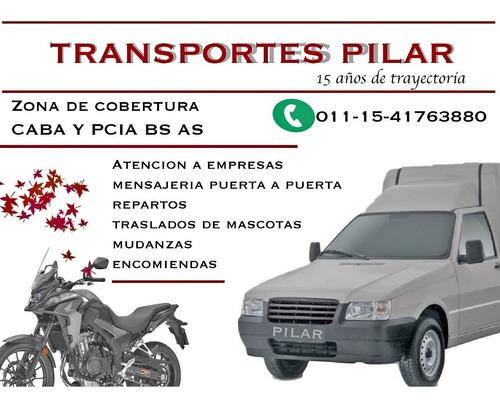 mini fletes  transportes pilar  economico,z.norte oeste caba
