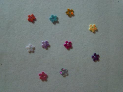 mini flor de acetato