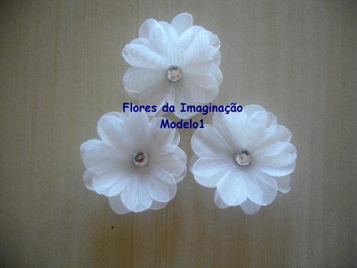 mini flores tecido artesanato lembrancinhas scrapbook 25un