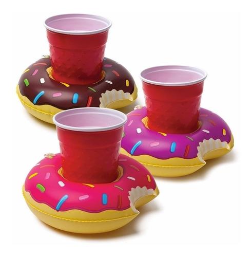 mini flotadores porta vasos botellas (10 unidades) piscina