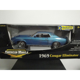 Mini Ford Mercury Cougar Eliminator 1969 Blue 1:18 Ertl