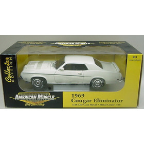 Mini Ford Mercury Cougar Eliminator 1969 White 1:18 Ertl