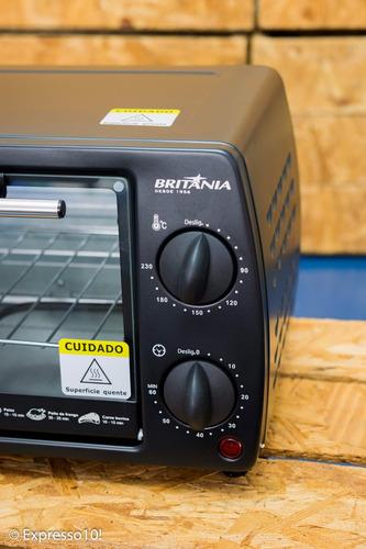 mini forno elétrico britânia 10l - forninho preto promoção