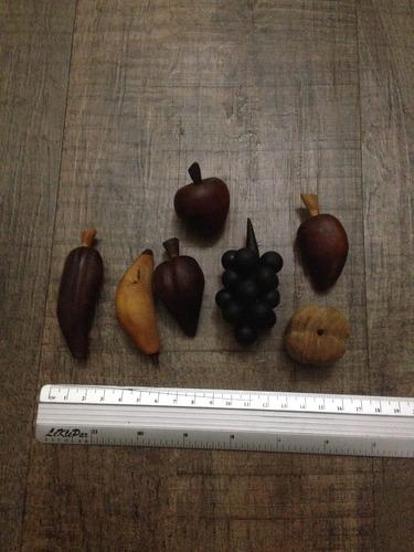 mini frutero de madera artesanía