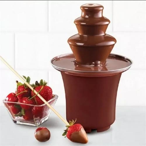 mini fuente de chocolate 3 niveles marca fondue fontain
