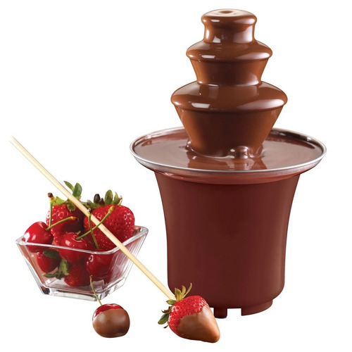 mini fuente de chocolate fondue fountain-de 3 niveles