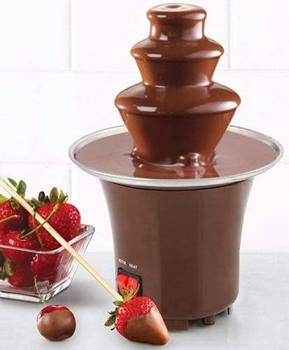 mini fuente de chocolate maquina fondeu 3 niveles