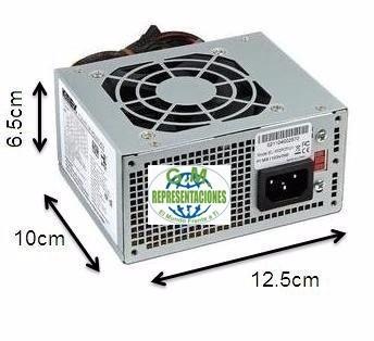 mini fuente de poder micro atx 650w 34a sata/ide/molex new