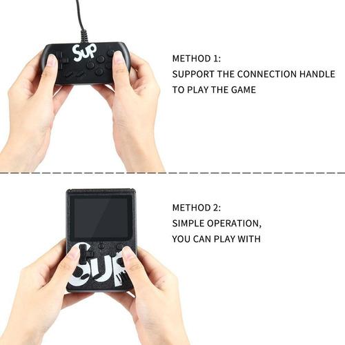 mini game portátil retrô + 400 jogos super nintendo vídeo