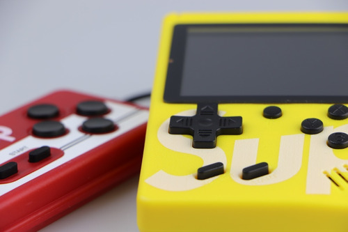 mini gamebox sup - consola portátil 2 jugadores - amarillo