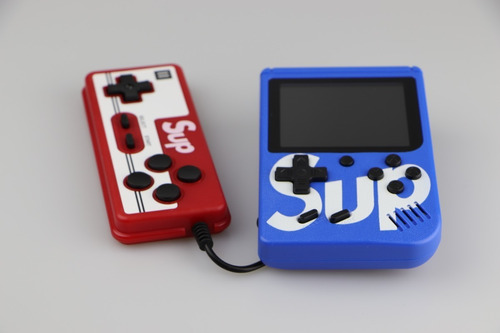mini gamebox sup consola portátil 400 juegos 2 players azul