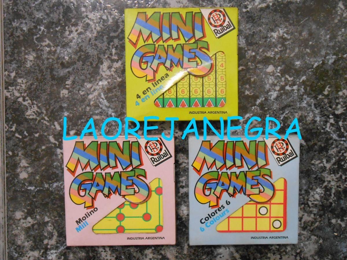 Mini Games Ruibal Lote X 3 Juegos De Mesa Nuevos 150 00 En