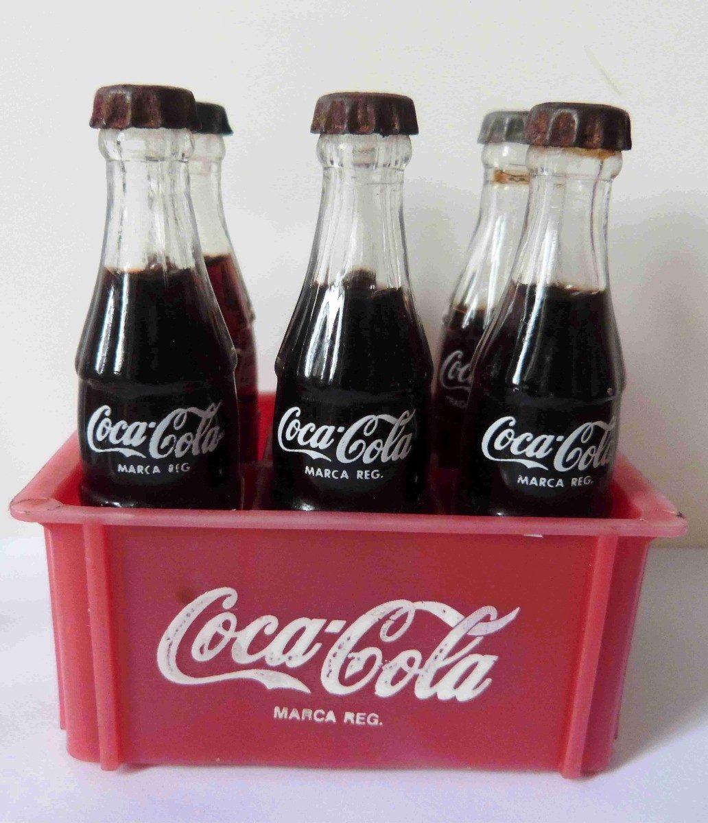 Mini Garrafas De Vidro Coca Cola Antigas E Caixas !!! - R$ 39,00 ...