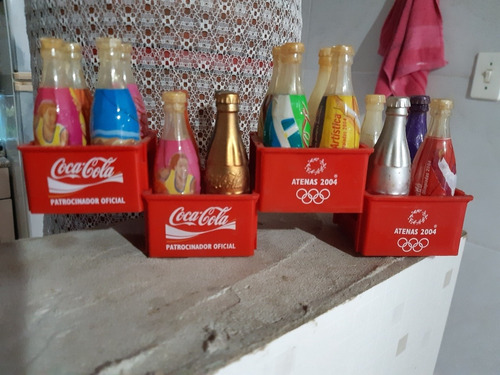 mini garrafinha de coca cola das olimpíadas 2004