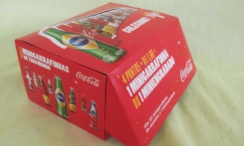 mini garrafinhas coca-cola copa 2014 + completa + brinde