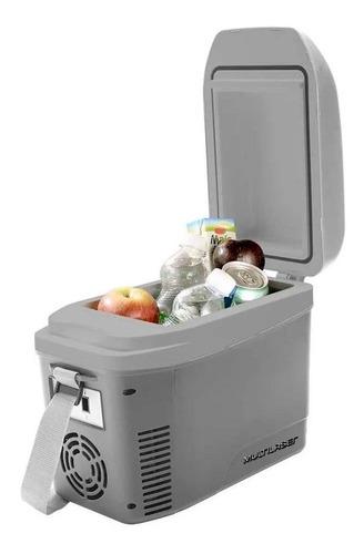 mini geladeira automotiva multilaser tv013 7l 12v cinza