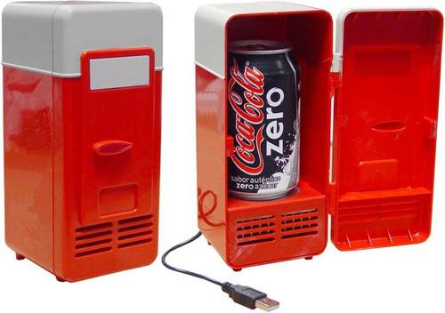 mini geladeira cooler refrigerador e aquecedor usb portatil