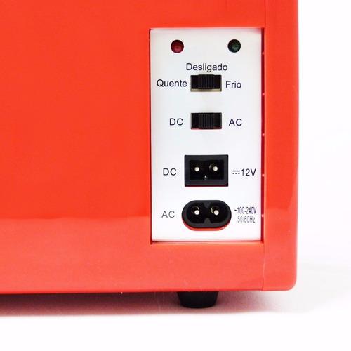 mini geladeira cooler retrô 4litros trivolt tv007 multilaser