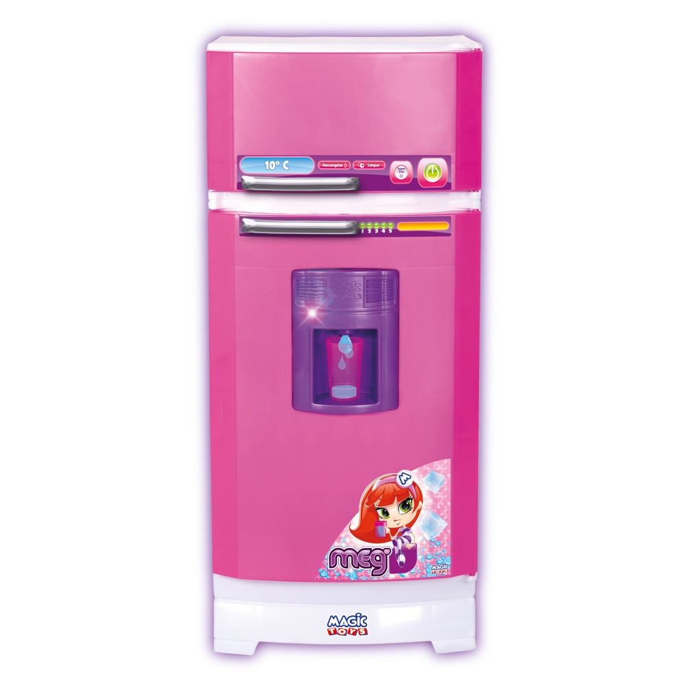 Mini Geladeira Infantil Cozinha Magic Toys Completa Linda R 178