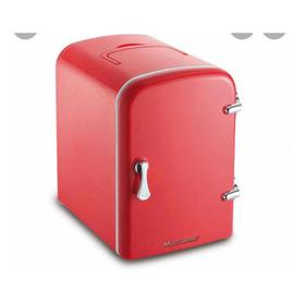 Mini Geladeira Multilaser Retro Trivolt 4l Vermelha