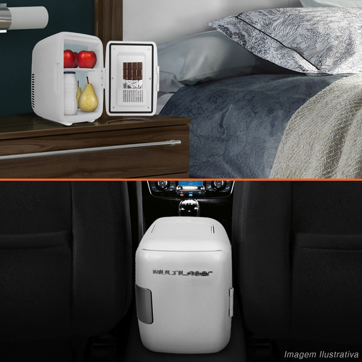 Adesivo Para Bastao De Led ~ Mini Geladeira Portatil 110v Carro Casa Camping Frigobar 4l R$ 199,90 em Mercado Livre