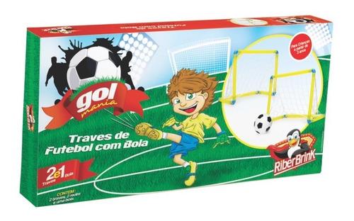 mini golzinho plastico com trave c/ 2 traves, 2 redes e bola