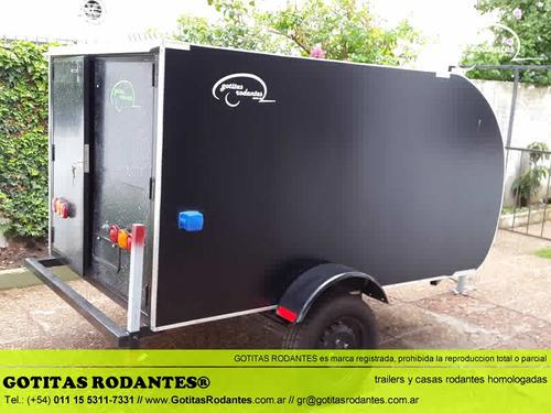 mini gotita rodante cargo / trailer cuatri homologado lcm