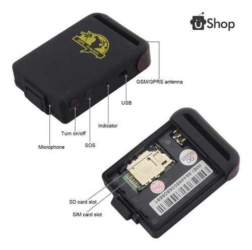 mini gps rastreador localizador tracker personal moto carro