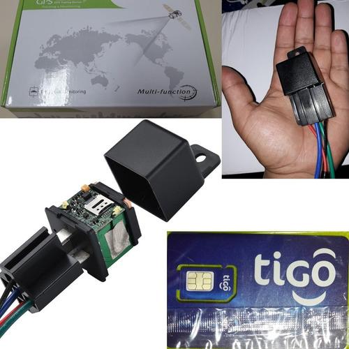 mini gps tracker moto, carro. apaga motor + simcard + app