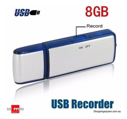 mini grabadora de voz usb 8gb c/micrófono bateria 14 horas