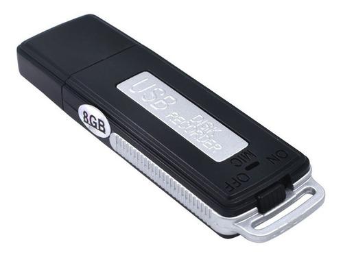 mini grabadora espia microfono oculto + memoria usb 8gb 240