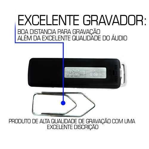 mini gravador áudio