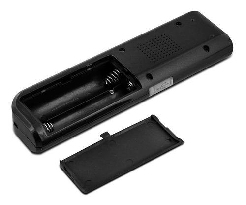 mini gravador de voz digital espião 8gb usb lcd mp3 preto